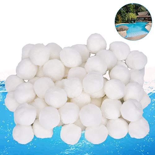 Queta Pool Filter 700g Filterballs für Sandfilteranlagen Glasklares Wasser im Pool Umweltfreundlicher Ersatz für Quarzsand und Filterglas