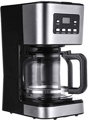YAeele Máquina de café, el café de la máquina 12 Copas, Semi-automático de Vapor Cafetera, Espresso Cappuccino Latte, Desmontable Lavable cafetera, Regalos for los Amantes del café