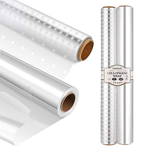 Cabilock Clear Cellophane Wrap R...