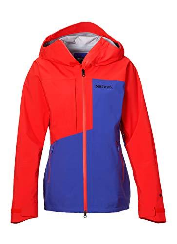 Marmot M. Europe, it Sporting Goods, 9IIY5 Wm's Huntley Jacket Giacca Impermeabile, Gaccia A Vento, Pioggia, Hardshell, Antivento, Impermeabile, Traspirante, Donna, Royal Night/Victory Red, M