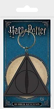 Pyramid International Harry Potter Deathly Hallows Logo Rubber Keychain,