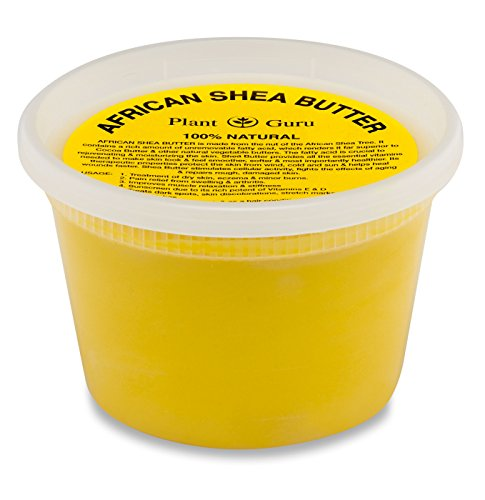 Raw African Shea Butter 16 oz Unrefined Grade A 100% Pure Natural Yellow / Gold From Ghana DIY Crafts, Body, Lotion, Cream, lip Balm, Soap Making, Eczema, Psoriasis And Aid Stretch Marks