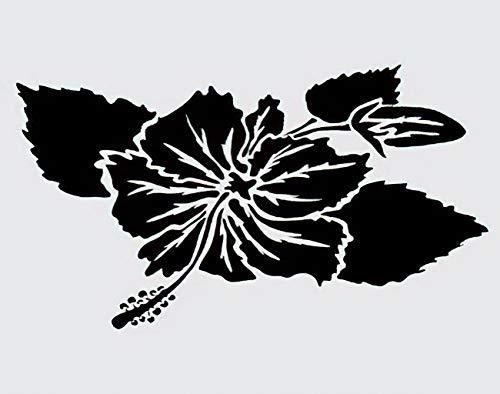Y·JIANG Pintura hawaiana por números, flores de hibisco, ramas florales vintage, lienzo acrílico al óleo por números, para adultos y niños, decoración de pared, 40,6 x 40,6 cm