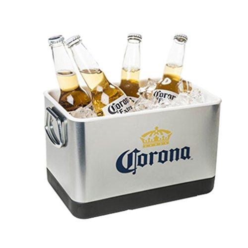 Corona Beer \& Ice Bucket - Stainless Steel