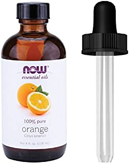 NOW Foods Orange Oil Sweet, 4 Ounce + 1 Glass Dropper