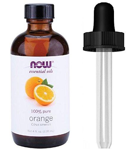 NOW Foods Orange Oil Sweet, 4 Ounce + 1 Glass Dropper