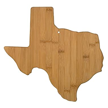 Totally Bamboo Texas State Shaped Bamboo Serving and Cutting Board