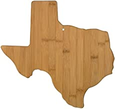 Totally Bamboo Texas State Shaped Bamboo Serving & Cutting Board