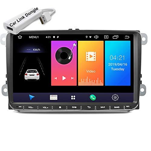 Autoradio 9 pollici Lettore multimediale Audio stereo Android Navigazione GPS WIFI Collegamento specchio Touch Screen per V / W Passat Golf MK5 MK6 Jetta T5 EOS POLO Touran Seat con dongle USB