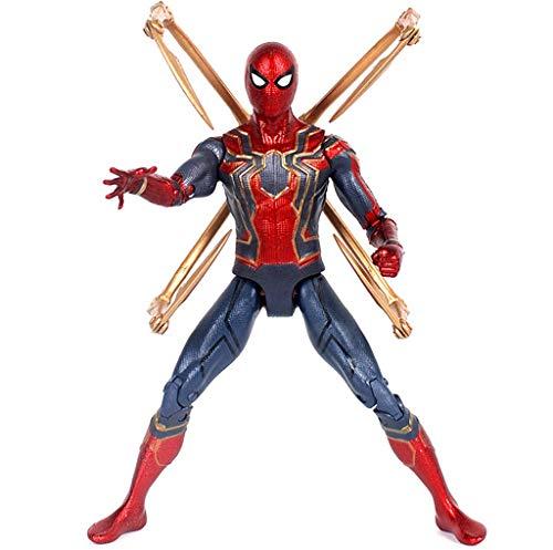 ZQBY7AA Hechos a Mano Vengadores Araña del Hierro Spider Man Modelo de Juguete móvil de la muñeca, 12cm