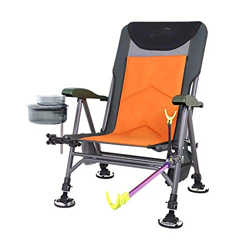 XUXUWA Stainless Steel Thickened Fishing Chair, Outdoor Folding Multi-Purpose Stool, Oxford Cloth All-Terrain for Fishing, Outdoor, Camping