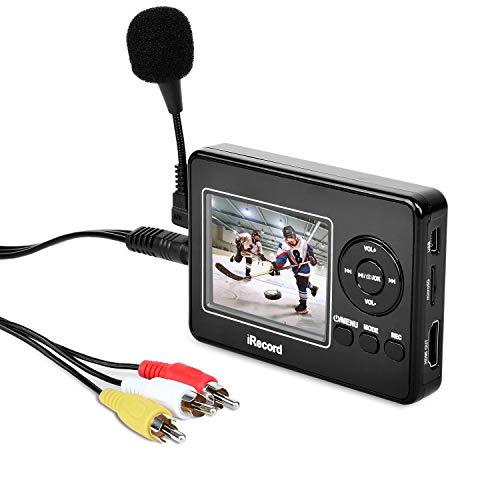 HD Video Grabber mit Mikrofon , Digitalisiert Videobänder Direkt auf Speicherkarte, Video-zu-Digital-Konverter für Videorecorder, VHS-Kassetten, Hi8, Camcorder, DVD, Digitaler Videoaufnahme