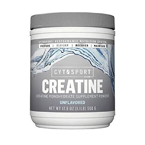 CYTOSPORT Cytosport Creatine, Creatine Monohydrate Supplement Powder, Unflavored, 1.1lb Cannister, 1.1 Pound, Red