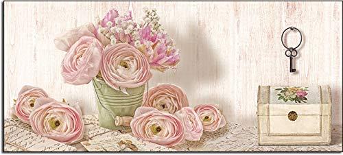 shabby romantic Deco Italia Quadro Moderno Shabby Chic Vaso di Rose Vintage – Romantic Lyrics   143 x 77 cm