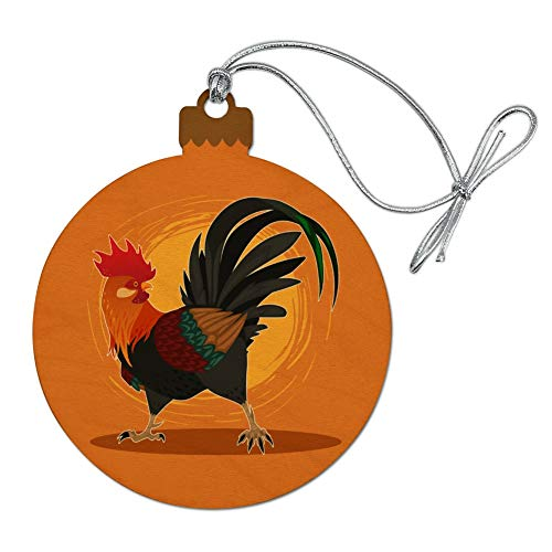 GRAPHICS & MORE Rooster of Awesomeness Chicken Wood Christmas Tree Holiday Ornament