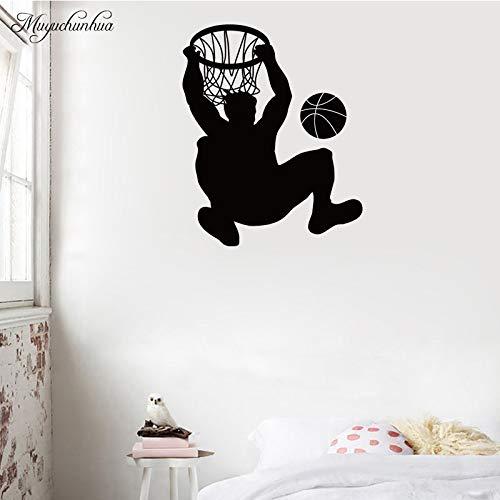 XL 58 cm X 65 cm Muyuchunhua Hübscher Basketballspieler Mode Kunst Wandaufkleber für Jungen Zimmer Indoor Stadion Dekoration Zubehör