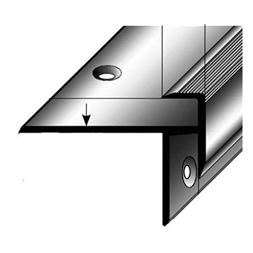 5 x 2,5 Meter Laminat-Treppenkante/Winkelprofil, Einfasshöhe 8,5 mm, 33 mm breit, Aluminium eloxiert, gebohrt
