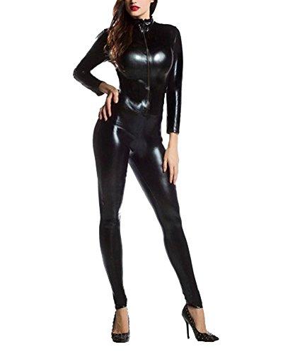 Unisex Vestido Carnaval Adulto Halloween Cosplay Ropa Invisible Negro S