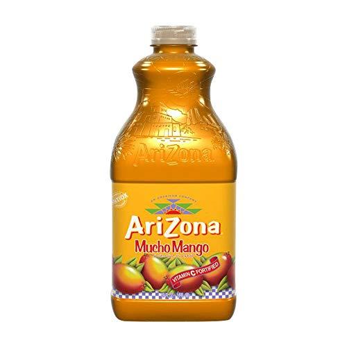 Arizona Mucho Mango – Cocktail de jus de fruits – Boisson aromatisée entièrement naturelle, bouteille de 1,74 l