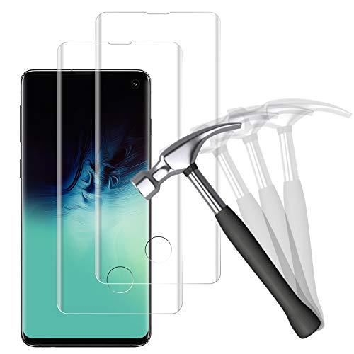 NUOCHENG Verre Trempé pour Samsung Galaxy S10, [2 pièces] 3D Couverture Complète, Anti-Rayures, Dureté 9H, HD Transparence sans Bulles Film Protection Écran pour Samsung Galaxy S10