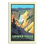 ZHBIN Vintage-Reise-Poster, Yellowstone National Park Lower