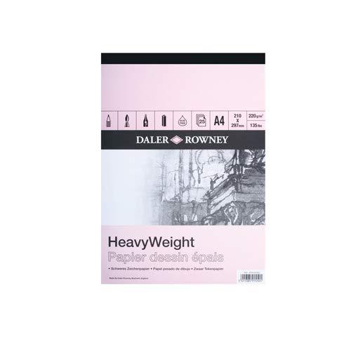 Daler Rowney Heavyweight Cartridge Pad 220gm A4 25s (Pad) by Daler Rowney