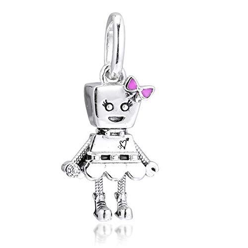 FUNSHOPP 2019 jesień Bella Bot punk opaska wiszący koralik srebro 925 DIY pasuje do oryginalnych bransoletek Pandora charm modna biżuteria