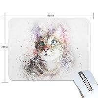 マウスパッド かわいい 水彩画 猫 動物 ハローキティ 探し 高級 ノート パソコン マウス パッド 柔らかい ゲーミング よく 滑る 便利 静音 携帯 手首 楽