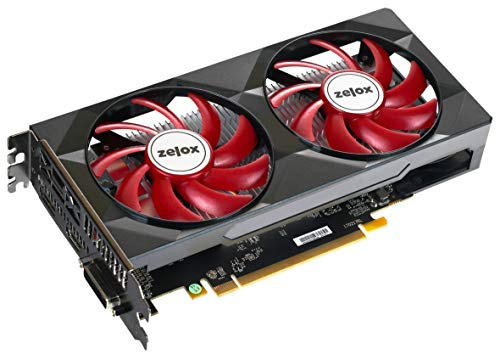 ZELOX Radeon RX550 4GB GDDR5 128BIT Vulkan HDMI DVI-D DP DISPLAYPORT Active Fan Bulk DX12