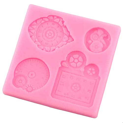 GEYKY Silicone MoldsBirthday Cake Decorating Tools Cupcake Topper Candy Chocolate Gumpaste Moulds