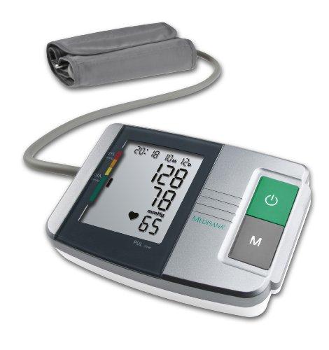 Medisana MTS Tensiómetro para el brazo, pantalla de arritmia, escala de colores de los semáforos de la OMS, para una medición precisa de la tensión arterial y del pulso con función de memoria