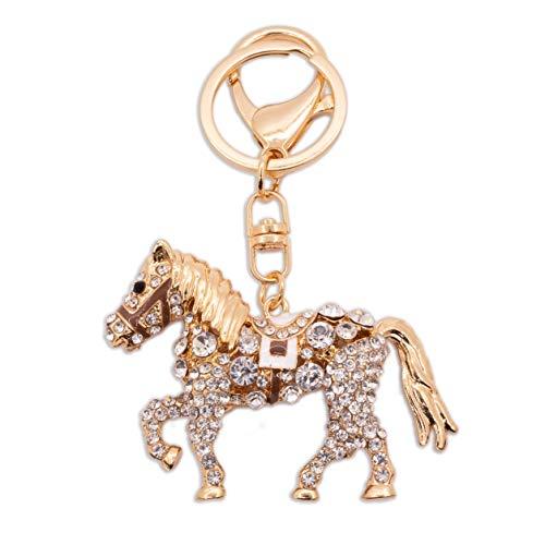 Pegasus caballo animales en forma de diamante Rhinestone encantos del bolso Bolso De Mano Llavero