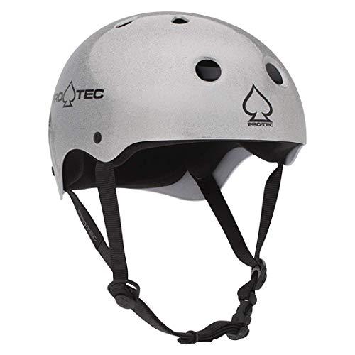 PRO-TEC(プロテック) CLASSIC SKATE(クラシックスケート) ヘルメットSILVERカラー 【正規輸入品】 Lサイズ 13732 Lサイズ