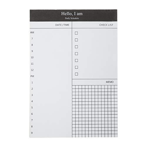 Youlin Note Arbeitszeitverwaltung, Selbstklebend, Papier, Schreibwaren, Bürobedarf 12.5x8.5cm #4