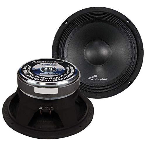 Audiopipe 1 Pair 8  500W Full Range Loud Speakers Low Mid Range APMB-8-B