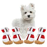 AOFITEE Mesh Dog Shoes Pet Boots, Breathable Dog Shoes for Small Doggy, Waterproof Pet Sandals with Anti-Slip Sole and Zipper Closure, Durable Pet Paw Protector for Hot Pavement (XL, Red)