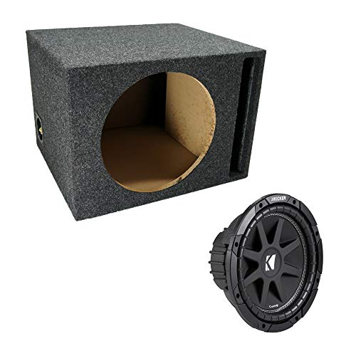 ASC Package Single 12' Kicker Sub Box Vented Port Subwoofer Enclosure C12 Comp 300 Watts Peak
