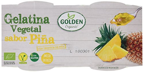 Golden Organic Gelatina Vegetal Ecológica de Piña con Troz