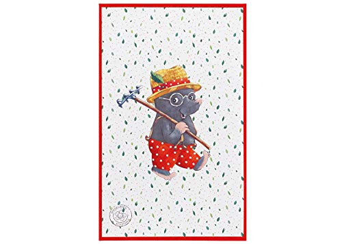 Babyzimmerteppich für Mädchen und Jungen   Kleiner Maulwurf, hell, Größe: 100x160 cm, Teppich für Babyzimmer