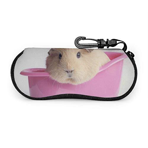 Bran-don Holländisches Schwein in einer kleinen Topf-Sonnenbrille mit Verschlussschnalle Soft Bag Glasses Case