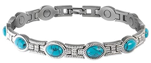 Hot Sale Sabona 22065 Lady Turquoise Magnetic Bracelet, Small