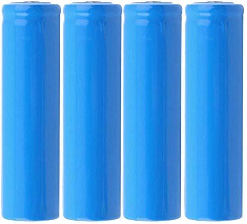 Baterías Recargables de 3,7 v 5000 mah Que cargan baterías de Litio con Placa Azul y de Punta para Linterna de celda de Iones de Litio 1 Pieza-4 Piezas