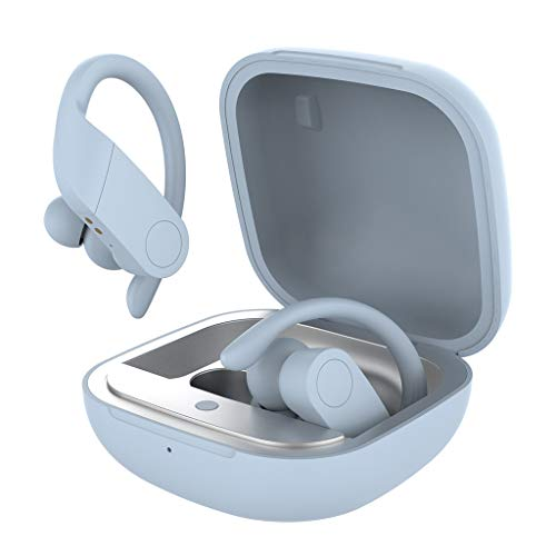 herobe Auriculares inalámbricos Bluetooth 5.0 deportivos impermeables con control táctil HiFi Tws auriculares con estuche Charg