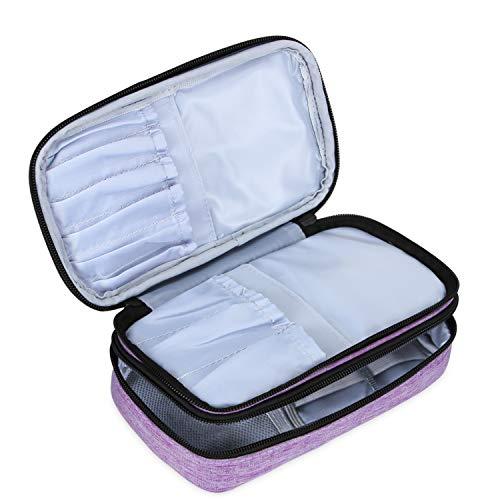 Teamoy Pinseltasche Kosmetik, Reise Kosmetiktasche für Kosmetik Pinsel, Make up Zubehör(nicht mehr als 8.5 Zoll/ 21.5cm) (Kein Zubehör im Lieferumfang enthalten), Lila.