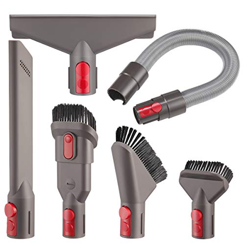 isinlive Attachment Flexible Hose Tool Kit Compatible with Dyson Vacuum V8 V7 V10 V11 Cordless, V7 Animal Trigger Motorhead Car+Boat V10 Animal Motorhead Brush Accessories(Directly Connect No Adapte