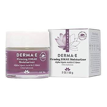 DERMA E Firming DMAE Moisturizer - Alpha Lipoic Acid Face Moisturizer - Natural Skin Firming Cream – Vitamin C and Vitamin E Cream – Vegan Facial Skin Care 2oz