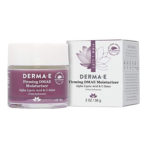 DERMA E Firming DMAE Moisturizer - Alpha Lipoic Acid Face Moisturizer - Natural Skin Firming Cream – Vitamin C and Vitamin E Cream – Vegan Facial Skin Care, 2oz