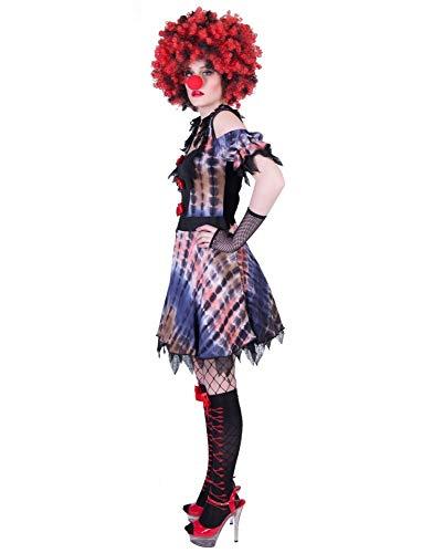 Grusel Killer Clown Lea - kostuum voor dames - schouwelijk bekleding zombie heks voor Halloween themafeest