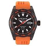 Locman Italy 0216 - Orologio automatico da uomo Stealth Carbon nero/arancione