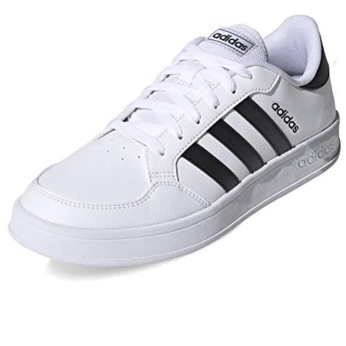 adidas BREAKNET, Zapatillas de Tenis para Hombre, FTWBLA/NEGBÁS/NEGBÁS, 45.33 EU